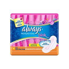 ABSORVENTE ALWAYS PINK P TOTAL C/ABAS C/8