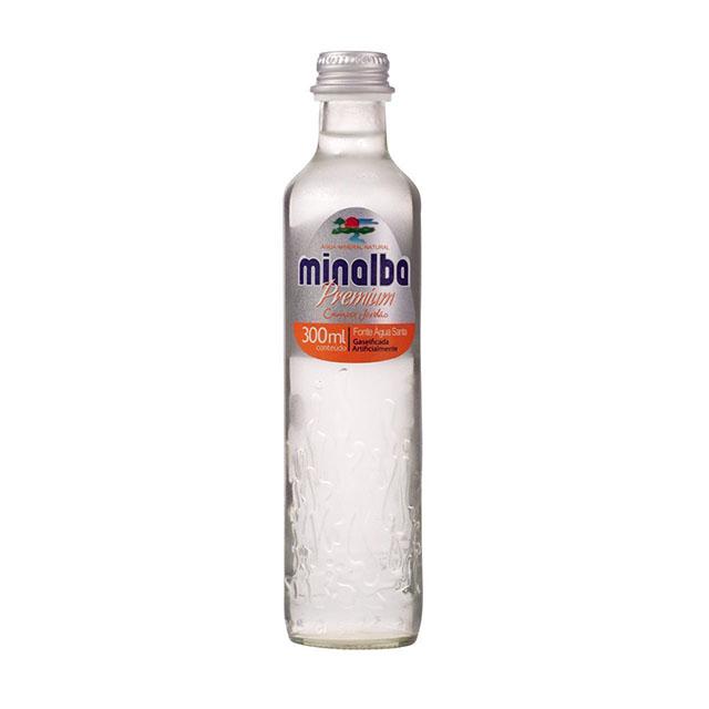 AGUA MINALBA PREMIUM C/GAS 300ML