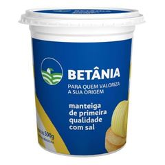 MANTEIGA COM SAL BETÂNIA 500G