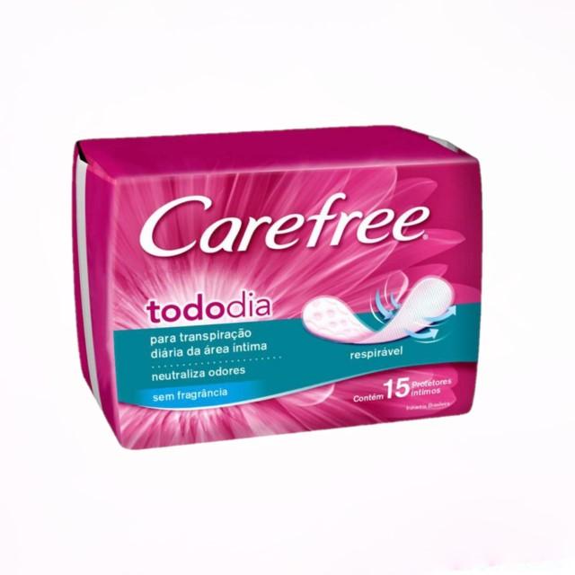 ABSORVENTE CAREFREE PROT DIARIO TODO DIA C/15