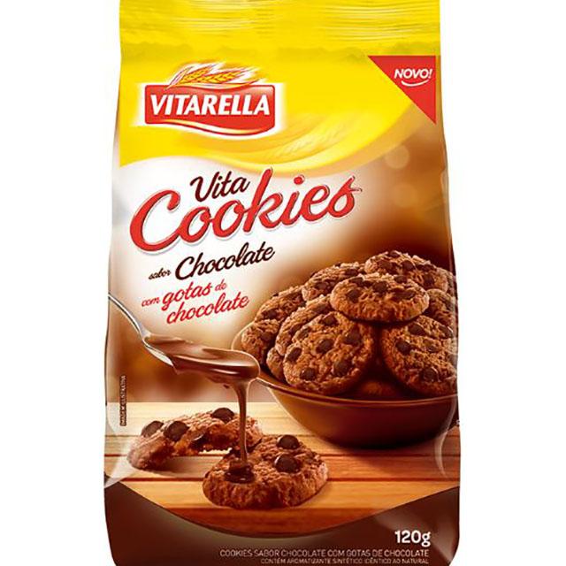 BISCOITO VITA COOKIES CHOCOLATE VITARELLA 120G