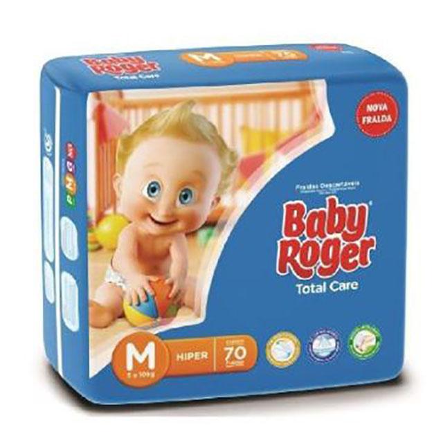 FRALDA  DESCARTAVEL BABY ROGER HIPER PLUS M