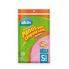 PANO LIMPEZA LEVE 33X50 ROSA C/5 ALKLIN