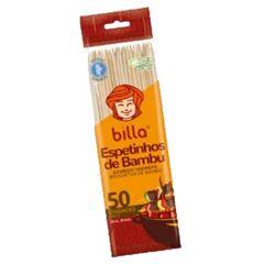ESPETO PARA CHURRASCO BAMBU BILLA 25CM C/50 UNIDADES