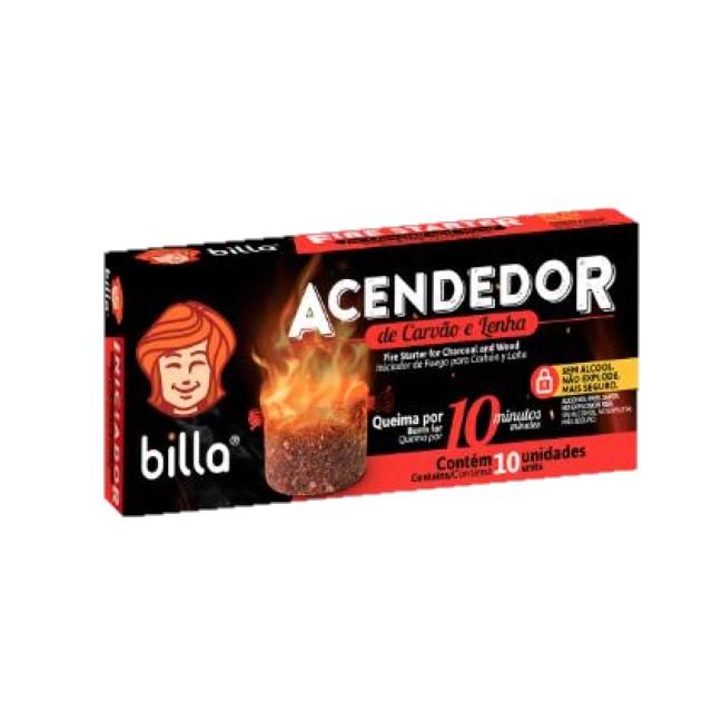 ACENDEDOR CARVAO BILLA 7G C/10