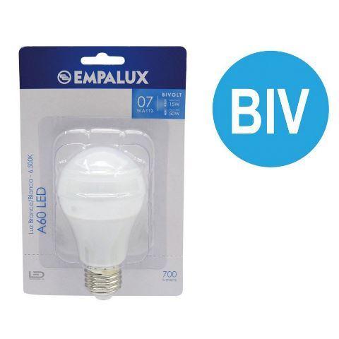 LAMPADA LED BIVOLT A60 7W 6.500K EMPALUX