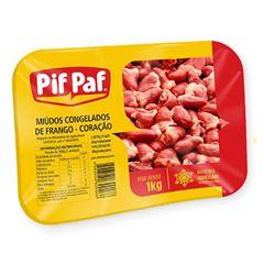 CORAÇÃO DE FRANGO PIF PAF BANDEJA 1KG