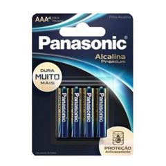 PILHA ALCALINA PANASONIC AAA PREMIUM C/4