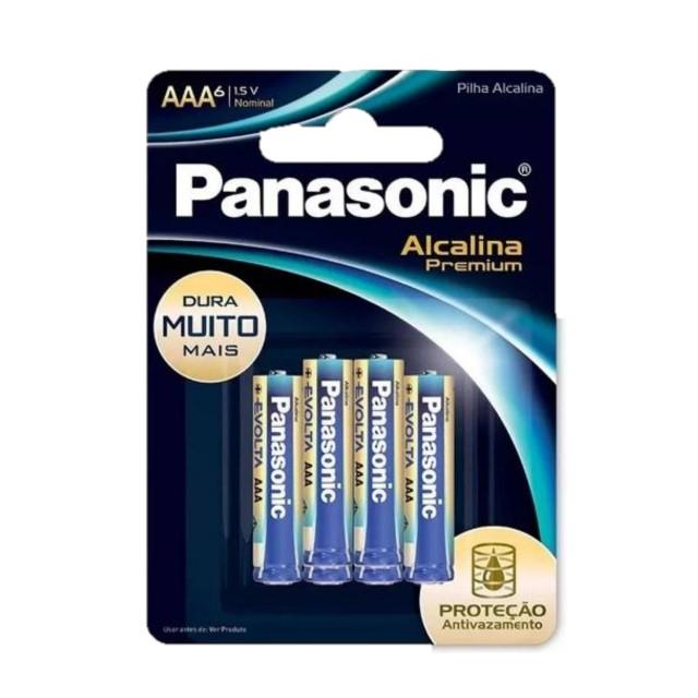 PILHA ALCALINA PANASONIC AAA PREMIUM C/6