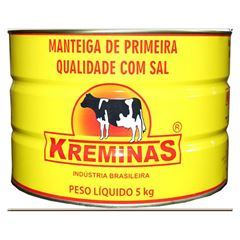 MANTEIGA COM SAL KREMINAS LATA 5KG