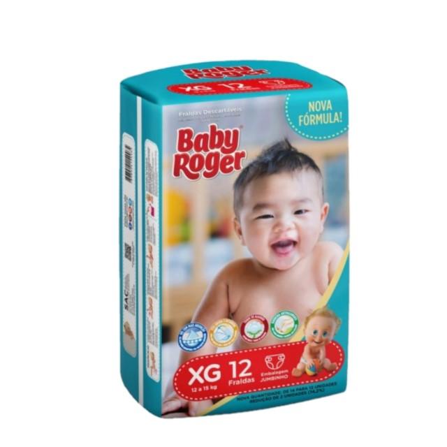 FRALDA  DESCARTAVEL BABY ROGER CARE JUMBINHO XG C/14