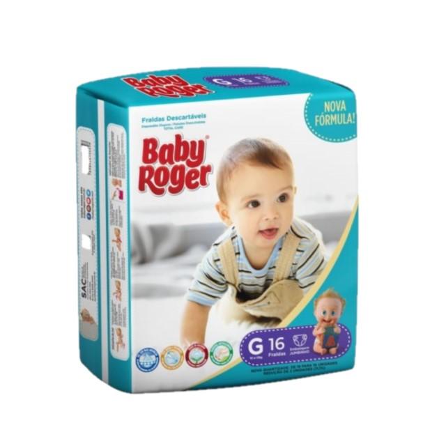 FRALDA DESCARTAVEL BABY ROGER CARE JUMBINHO G C/18
