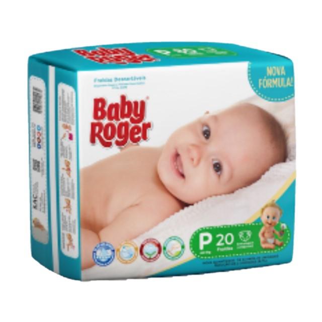 FRALDA  DESCARTAVEL BABY ROGER CARE JUMBINHO P C/22