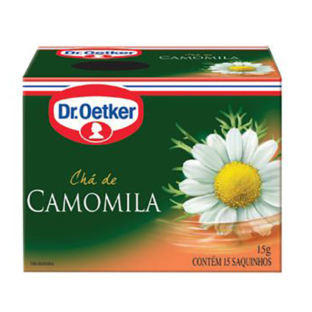 CHA DR OETKER CAMOMILA 15 SACHÊ 15G