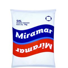 SAL MIRAMAR REFINADO IODADO 1KG