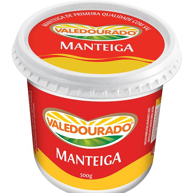 MANTEIGA COM SAL VALEDOURADO 500G