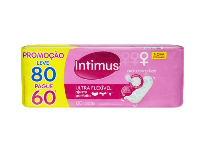 ABSORVENTE INTIMUS DAYS PROT DIARIO INTFLEX C/80