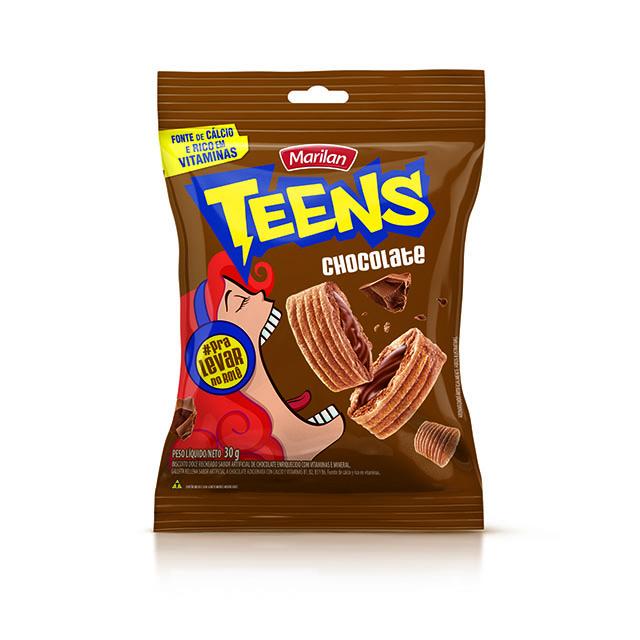 BISCOITO RECHEADO MARILAN TEENS CHOCOLATE 30G