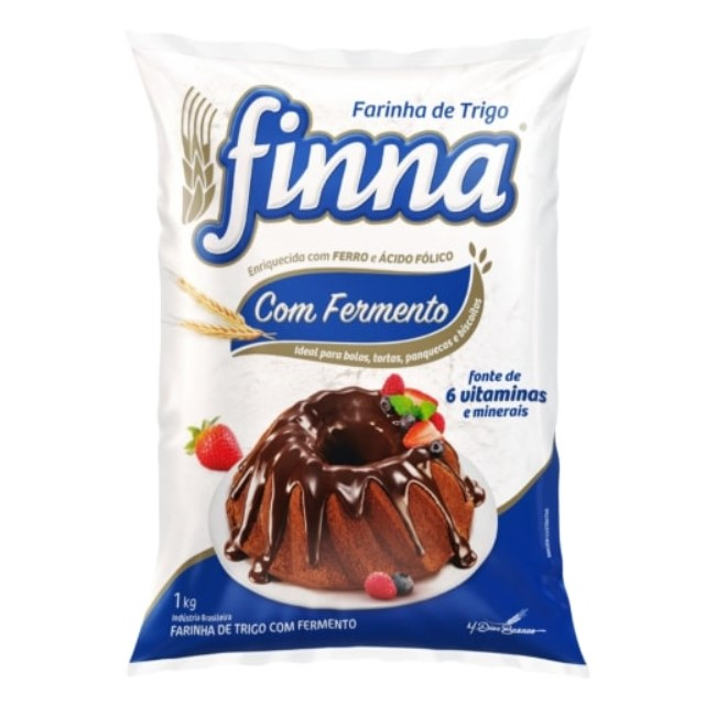 FARINHA DE TRIGO FINNA COM FERMENTO 1KG