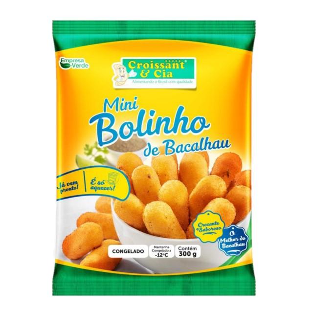 MINI BOLINHO BACALHAU CONGELADO CROISSANT 300G
