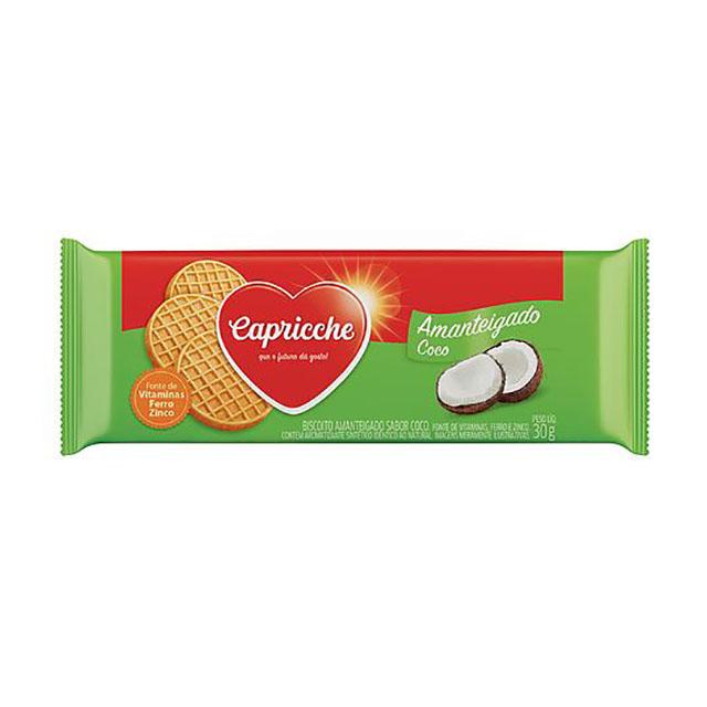 BISCOITO AMANTEIGADO CAPRICCHE COCO 30G