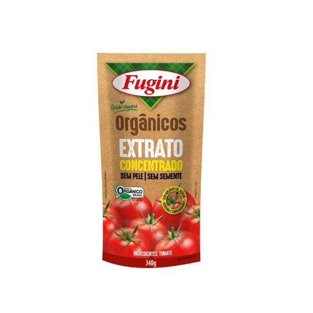 EXTRATO TOMATE ORGÂNICO FUGINI SACHÊ 340G