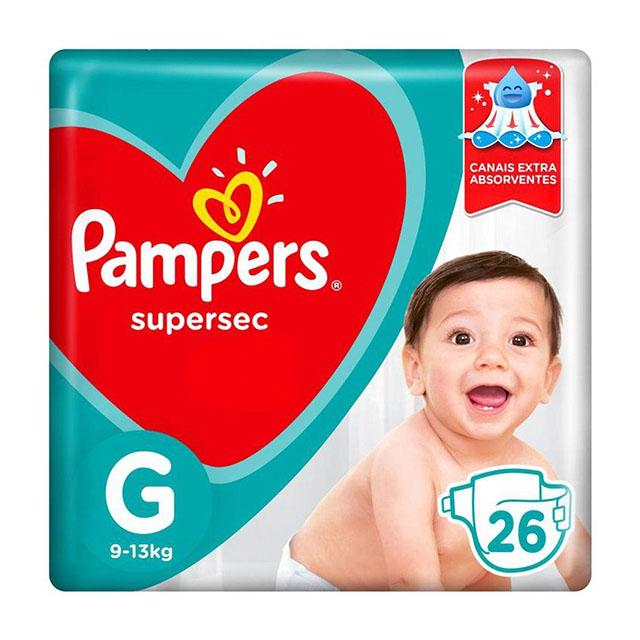 FRALDA  DESCARTAVEL PAMPERS SUPERSEC G C/26