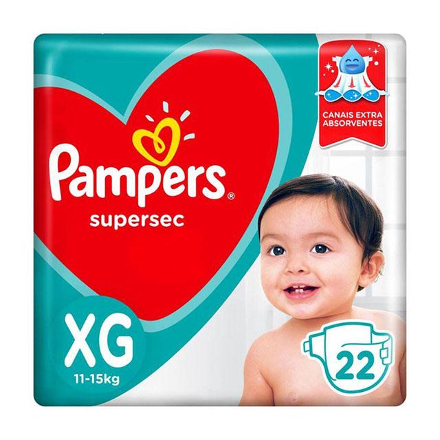 FRALDA  DESCARTAVEL PAMPERS SUPERSEC XGC/22