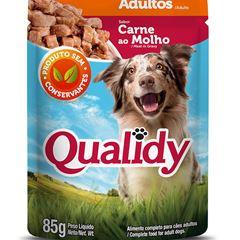 Ração p/Cão Adulto Qualidy Carne Sachê 85g und