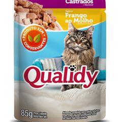Ração p/ gato Castrado Qualidy Frango Sach 85g und