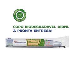 COPO BIODEGRADÁVEL TRANSPARENTE CRISTALCOPO 180ML C/100 UNIDADES