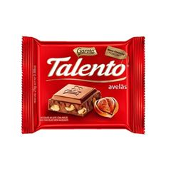 BARRA DE CHOCOLATE TALENTO AVELA 90G