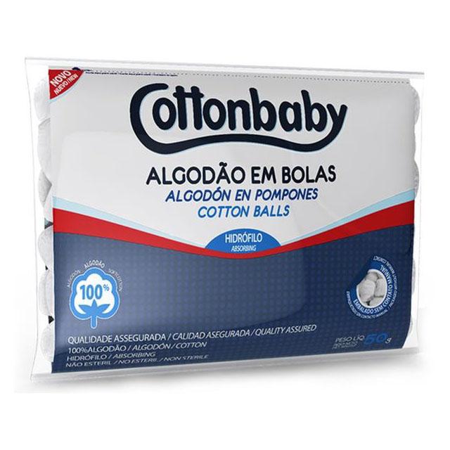 ALGODAO BOLA COTTONBABY BRANCO 50G