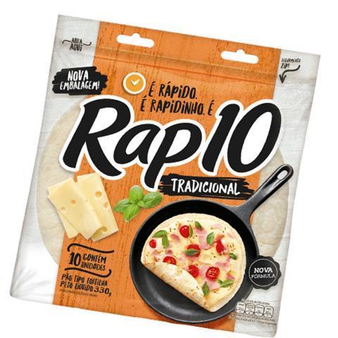 PÃO RAP 10 TRADICIONAL 330G