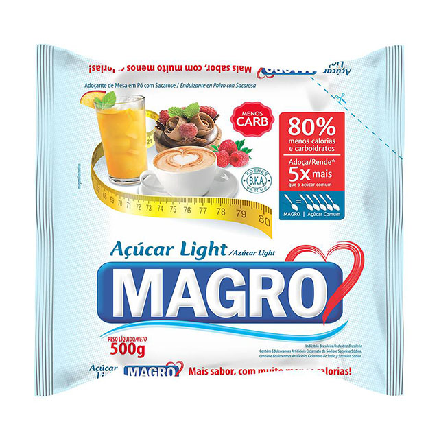 ACUCAR LIGHT MAGRO 500GR