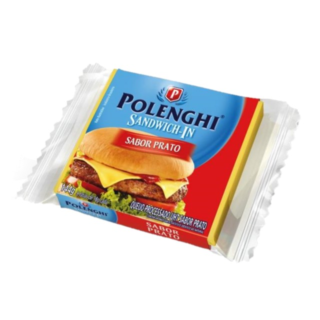 QUEIJO PRATO PROCESSADO SANDWICH-IN POLENGHI 144G