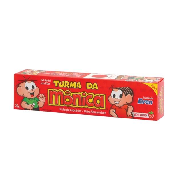 GEL DENTAL C/FLUOR TURMA MONICA MOR 50G
