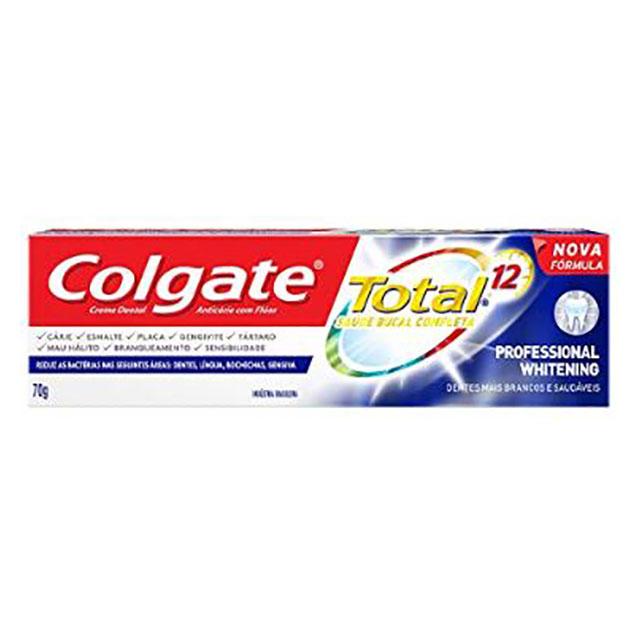 CREME DENTAL COLGATE TOTAL 12 PROF WHITE 70